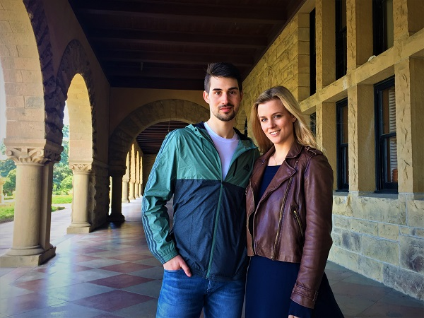 Madi and Zach at Stanford University
